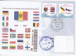 MOLDOVA ,  2017 , 25 Years Moldova -  The Czech Republic And The Slovak Republic Diplomatic Relation  , Special. Cancell - Moldova