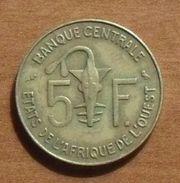 1967 - Afrique De L'Ouest - West African States - 5 FRANCS, BCEAO, KM 2a - Munten