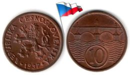 Tchékoslovaquie - 10 Haleru 1937 (High Grade) - Czechoslovakia