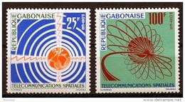 Gabon, 1963, Space, Satellites, Telecommunication, MNH, Michel 185-186 - Gabun (1960-...)