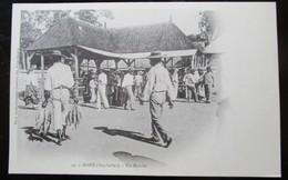 Seychelles Mahe Un Marché Cpa Timbrée Madagascar - Seychelles