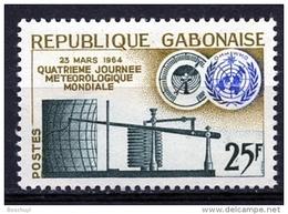 Gabon, 1964, World Meteorology Day, Seismograph, MNH, Michel 196 - Gabon