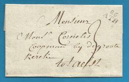 (R157) Belgique - Précurseur - LAC De ATH à ALOST Du 9/3/1796 - 86 ATH En Noir - 1794-1814 (Période Française)