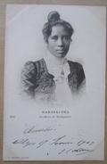 Madagascar Reine Ranavalona Cpa Timbrée Alger 1903 - Madagascar