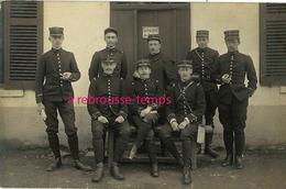 Carte Photo à Valbonne-officiers 132e, 30e, 69e, 55e, 15e, 60e, 37e Régiments-photographe  J. Blanc à Lyon - Guerra, Militari