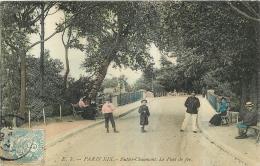 PARIS BUTTES CHAUMONT   LE PONT DE FER - Arrondissement: 19