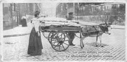 LES PETITS METIERS PARISIENS LE MARCHAND DE TOILES CIREES  FORMAT  13.50 X 6.50 CM - Ambachten In Parijs
