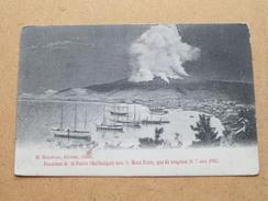 Panorama De St. PIERRE (Martinique) Avec Le Mont Pelée, Qui Fit éruption Le 7 Mai 1902 ( Zie Foto Voor Details ) !! - Autres