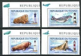 204 TCHAD 2012 - Yvert 1535/38 - Phoque Phare - Neuf ** (MNH) Sans Trace De Charniere - Tchad (1960-...)