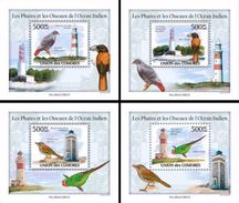 Comores 2010, Animals, Birds And Lighthouses Of Indian Ocean, 4BF DeLuxe - Lighthouses