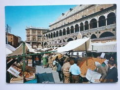 Postcard Padova Green Market Reason Mansion Padua Italy My Ref B21543 - Markets