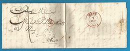 (R170) Belgique - Précurseur - LAC De THULIN à MONS Du 6/7/1844 - Càd St GHISLAIN En Noir (dernier Mois) + CA En Rouge - 1830-1849 (Belgique Indépendante)