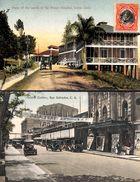 Panama - Lot Of 2 Postcards (animacion, Oldtimer, Color, Stamp...vista Photos) - Panama