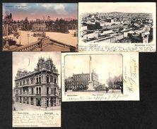 Uruguay - Lot Of 4 Postcards (animacion, Oldtimer, Color, Stamp, Précurseur...vista Photos) - Uruguay