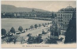 1909 -Genève Et Le Monument Brunswick Gelaufen Nach Bouchemaine - GE Genève