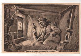 Nr.  8938,  Feldpostkarte,  Schützengraben-Unterstand - War 1914-18