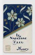 Carte Parfumée Le Narcisse Bleu MURY 7,5 X 4,5 Fougères Voir Scan Du Dos - Parfumkaarten