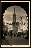 ALTE POSTKARTE HANSESTADT DANZIG RATHAUS UND GRÜNES TOR Gdansk Polska AK Postcard Cpa Ansichtskarte - Danzig
