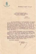 CHIAVARI --LETTERA DEL PODESTA DI CHIAVARI AL VESCOVO DI CHIAVARI -- 1941- - Documents Historiques