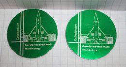 Netherlands Aluminium Tokens - Collectemunt Gereformeerde Kerk Marienberg - 2pcs - Non Classificati