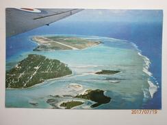 Postcard Gan Island And Reef From RAF Aircraft Former British Military Base Addu Atoll Maldives My Ref  B11519 - Maldives