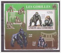 0301 Comores 2009 Aap Ape Monkey Gorilla S/S MNH - Apen