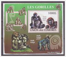 0302 Comores 2009 Aap Ape Monkey Gorilla S/S MNH - Apen