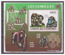 0303 Comores 2009 Aap Ape Monkey Gorilla S/S MNH - Apen