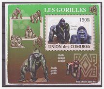 0304 Comores 2009 Aap Ape Monkey Gorilla S/S MNH - Apen
