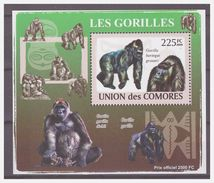 0319 Comores 2009 Aap Ape Monkey Gorilla S/S MNH - Apen
