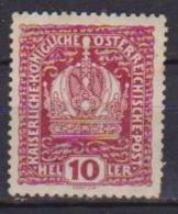 AUSTRIA  1916 EFFIGE E CORONA DEL KAISER UNIF. 146 MLH VF - 1850-1918 Impero
