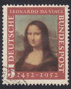 GERMANIA - GERMANY - DEUTSCHLAND - ALLEMAGNE -  1951 - Yvert 34 Usato, Leonardo Da Vinci. - Used Stamps