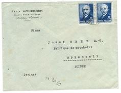 Turquie // Lettre Pour La Suisse - 1934-39 Sandjak Alexandrette & Hatay