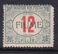 Fiume Postage Due  Stamps  J9 1918 12f Green And Red ,mint Hinged - 8. WW I Occupation