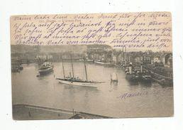 Cp , 76 , DIEPPE , Bateaux , L'avant Port , Voyagée 1905 - Dieppe