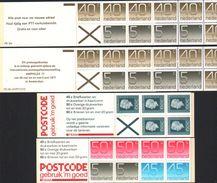 PB23a,b,24a,25a,regina Juliana And Number,four Booklets - Heftchen Und Rollen