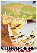 PLM Villefranche S/Mer Port De Tourisme 1930 - Postcard - Poster Reproduction - Publicité