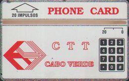L&Gyr CPV-1e Red CTT Logo,CN:304A,mint Tiny Oxide,issued In 1993 - Kaapverdische Eilanden