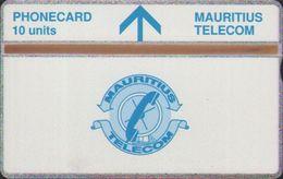 L&Gyr Definitive Issue,MAU-17 Telecom Logo,CN:407A, Mint ,edge Tiny Oxide,issued In 1994 - Mauritius