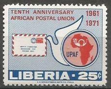 Liberia - 1971 African Postal Union 25c   MNH **       Sc 583 - Liberia
