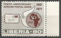 Liberia - 1971 African Postal Union 80c   MNH **       Sc 584 - Liberia