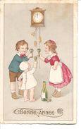 CPA Humoristique ( Enfant Buvant Du Champagne ) - Cartes Humoristiques