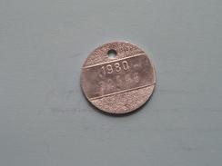 Belasting Op HONDEN West Vlaanderen 1980 ( TOKEN For Dog / Chien TAX / For Detail, Zie/see Photo ) ! - Unclassified