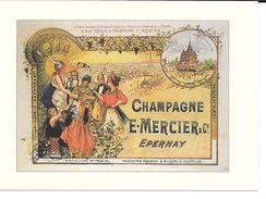 PUBLICITé : ALCOOL TRES BELLE CPM  (  (SUP) CHAMPAGNE MERCIER ( TRES GRAND FORMAT) NEUVE - Werbepostkarten