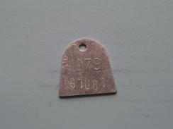 Belasting Op HONDEN West Vlaanderen 1979 ( TOKEN For Dog / Chien TAX / For Detail, Zie/see Photo ) ! - Belgique