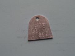 Belasting Op HONDEN West Vlaanderen 1979 ( TOKEN For Dog / Chien TAX / For Detail, Zie/see Photo ) ! - Unclassified