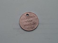 Belasting Op HONDEN West Vlaanderen 1976 ( TOKEN For Dog / Chien TAX / For Detail, Zie/see Photo ) ! - Belgium