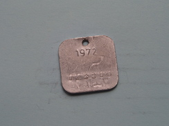 Belasting Op HONDEN West Vlaanderen 1972 ( TOKEN For Dog / Chien TAX / For Detail, Zie/see Photo ) ! - Unclassified