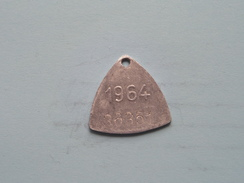 Belasting Op HONDEN West Vlaanderen 1964 ( TOKEN For Dog / Chien TAX / For Detail, Zie/see Photo ) ! - Unclassified