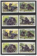 Rwanda 1985. Michel #1292/95+Bl.#103 A+B MNH/Luxe. WWF. Mountain Gorilla. (Ts11) - W.W.F.